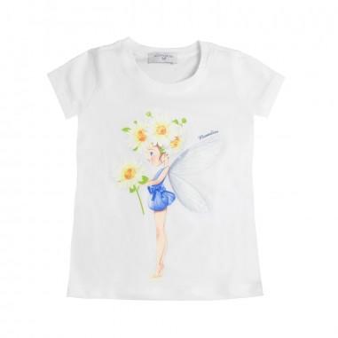 Monnalisa Girls jersey daisies t-shirt by Monnalisa 113602S219-19-0099monna19