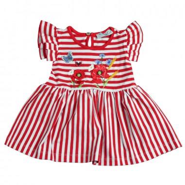 Monnalisa Top rigato rosso bambina by Monnalisa 393607SF19-19-9941monna19