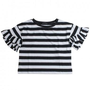 Monnalisa T-shirt bianca e nera bambina by Monnalisa 49360419-19-9950monna19