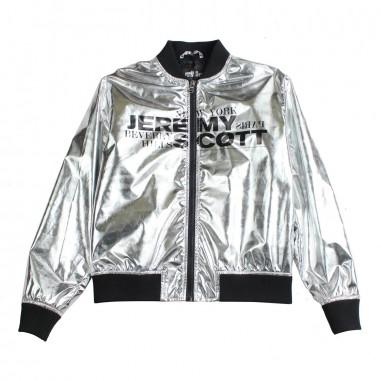 97965a1c7253 Jeremy Scott Kids Silver jeremy scott logo bomber jacket by Jeremy Scott  Kids j3s000l3a1560918
