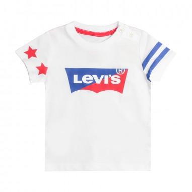 Levi's T-shirt bianca logo bicolore per bambini bibat by Levi's Kids nn1002401levis19