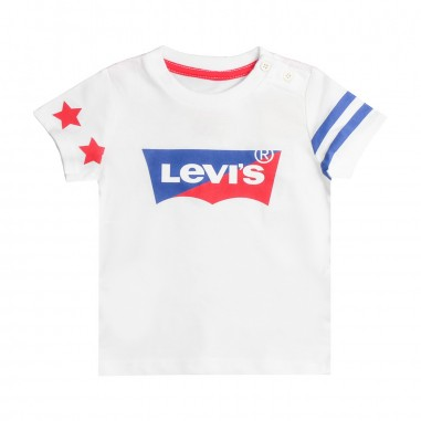 Levi's White bicolor logo bibat t-shirt by Levi's Kids nn1002401levis19