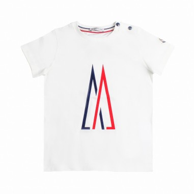Moncler Boys jersey moncler logo t-shirt Kids 8024750v8014034mo19