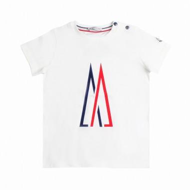 Moncler T-shirt jersey logo moncler bambino - Moncler Kids 8024750v8014034mo19