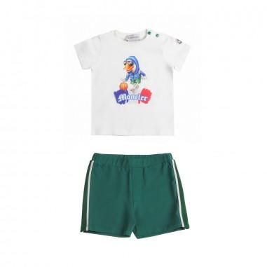 Moncler Completo t-shirt & bermuda jersey - Moncler Kids 88121508790a034mo19