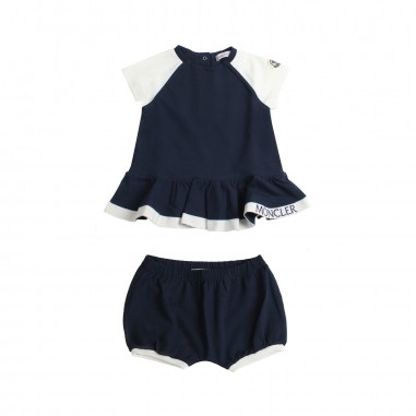 Moncler Completo t-shirt & shorts jersey bambina - Moncler Kids 88593058790a778mo19