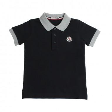 Moncler Polo piquet nera bambino - Moncler Kids 83078508496w999mo19