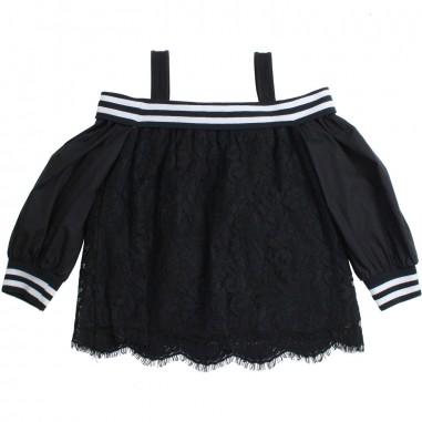 Monnalisa Top lungo nero bambina by Monnalisa 49330019-19-0050monna19