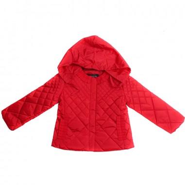 Monnalisa Girls red nylon jacket by Monnalisa 17310619-19-0044monna19