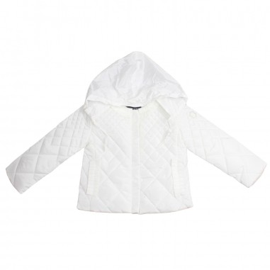 Monnalisa Girls white nylon jacket by Monnalisa 17310619-19-0099monna19
