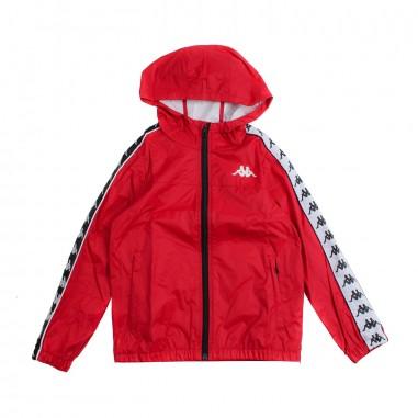 Kappa Kids Giubbino impermeabile nylon rosso per bambini - Kappa Kids 303wa70969kappa19