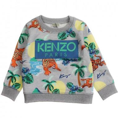 Kenzo Boys grey hawaii logo sweatshirt by Kenzo Kids KN1558825kenzo19