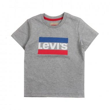 Levi's T-shirt grigia con logo per bambini hero by Levi's Kids nn1004720levis19