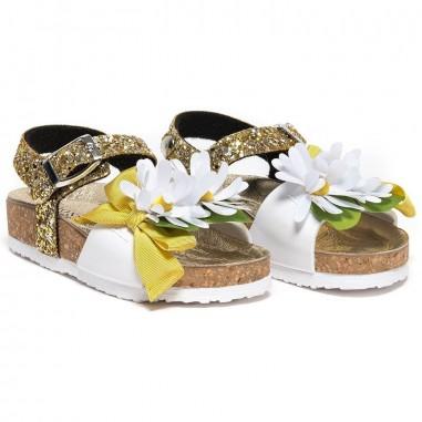 Monnalisa Girls glitter sandals by Monnalisa 8C301619-19-0099monna19