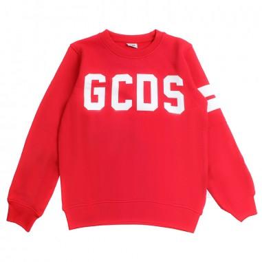 GCDS mini Felpa logo rossa unisex by GCDS Kids 020036040gcds19