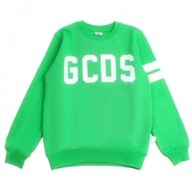 GCDS mini Felpa logo unisex verde by GCDS Kids 020036080gcds19