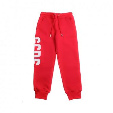 GCDS mini Pantalone felpa rosso logo bambini by GCDS Kids 019490040gcds19
