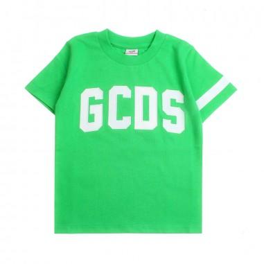 GCDS mini T-shirt jersey verde bambini logo by GCDS Kids 019492080gcds19