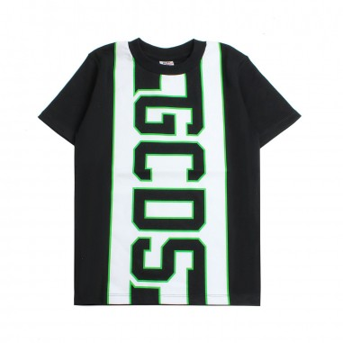 GCDS mini T-shirt nera logo bambino by GCDS Kids 019495110gcds19