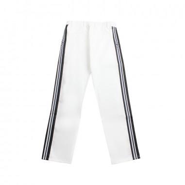 GCDS mini Boys white gabardine trousers by GCDS Kids 019520001gcds19