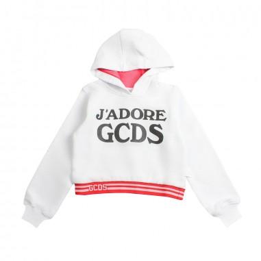 GCDS mini Girls 'j'adore gcds' cropped sweatshirt by GCDS Kids 019459001gcds19