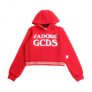 GCDS mini Felpa rossa j'adore gcds bambina by GCDS Kids 019459040gcds19