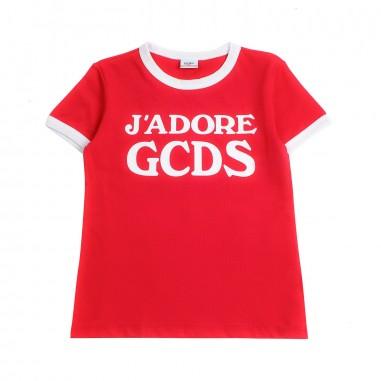 GCDS mini Girls 'j'adore gcds' red t-shirt by GCDS Kids 019461040gcds19