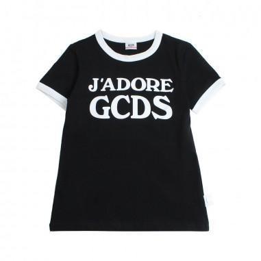 GCDS mini T-shirt j'adore gcds nera bambina by GCDS Kids 019461110gcds19