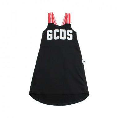 GCDS mini Abito jersey nero bambina by GCDS Kids 019463110gcds19