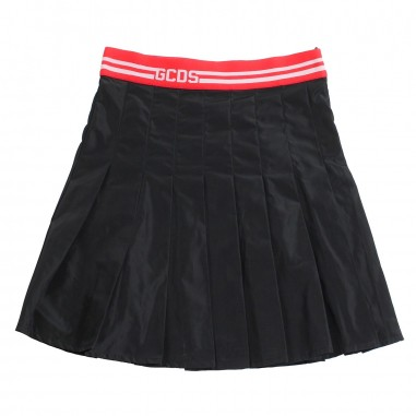 GCDS mini Gonna nylon nera bambina by GCDS Kids 019465110gcds19