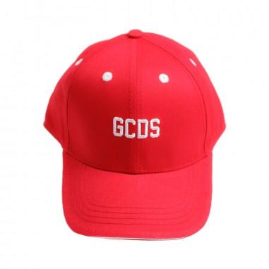 GCDS mini Cappello logo rosso unisex bambini by GCDS Kids 019429040gcds19