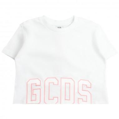 GCDS mini T-shirt logo bianca bambina by GCDS Kids 019455001gcds19
