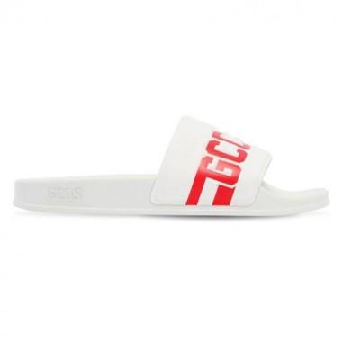 GCDS mini Sandali bianchi con logo by GCDS Kids 019523B001gcds19