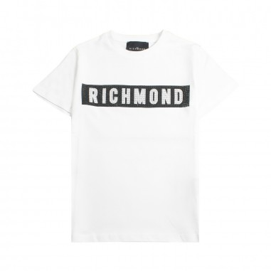 Richmond Boys white logo t-shirt by John Richmond Junior rbp19068ts19rich19