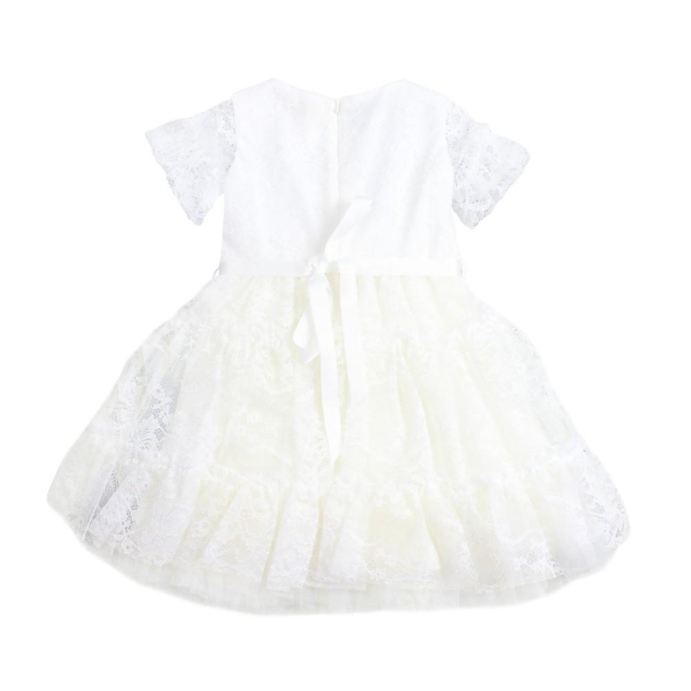 1504787743e8 Monnalisa - Girls white lace dress by Monnalisa - Ivana Vesprini