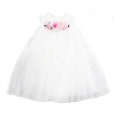 Monnalisa Girls bouquet tulle dress by Monnalisa 733906F319-19-0001monna19