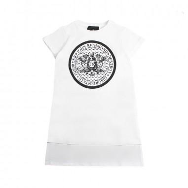 Richmond Girl white maxi t-shirt by John Richmond Junior rgp19258ts19rich19