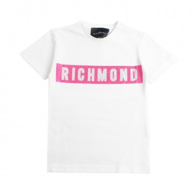 Richmond T-shirt logo bianca bambina by John Richmond Kids rgp19206ts19rich19