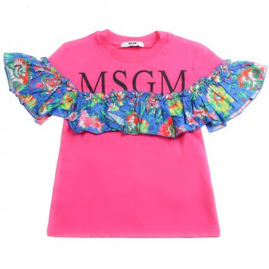 e83af499 MSGM Girls fuchsia jersey t-shirt by MSGM Kids 01811019msgm19