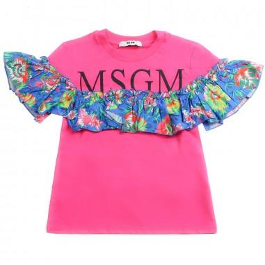 MSGM T-shirt bambina fucsia jersey by MSGM kids 01811019msgm19
