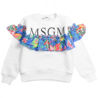 MSGM Felpa bianca cotone bambina by MSGM kids 01811619msgm19