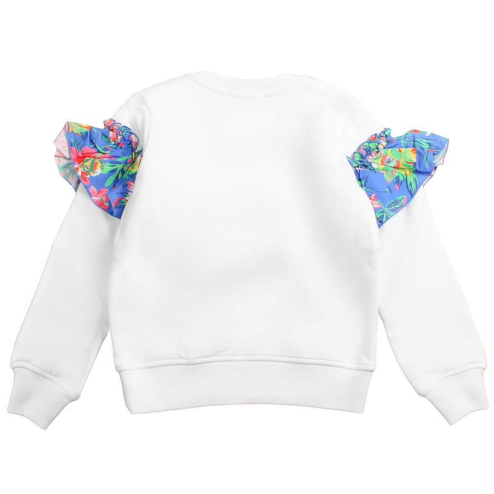 7ff8f4bd5948 Girl white cotton sweatshirt by MSGM Kids - Ivana Vesprini