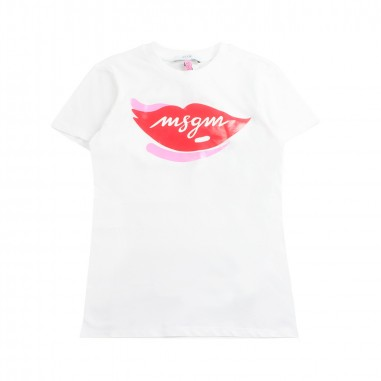 MSGM Girl white jersey t-shirt by MSGM Kids 01816819msgm19