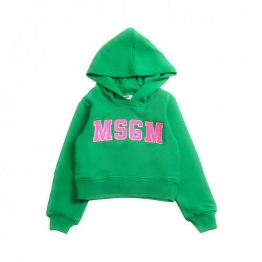 MSGM Felpa corta verde bambina by MSGM kids 01916919msgm19