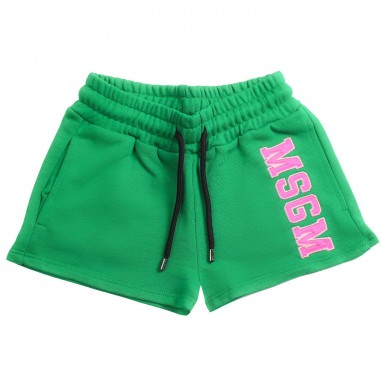 MSGM Shorts felpa verde bambina by MSGM kids 01917008019msgm19