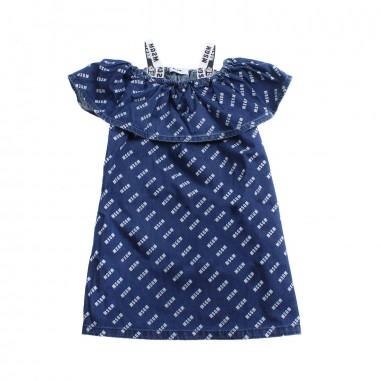 MSGM Girls blue chambray dress by MSGM Kids 01808319msgm19