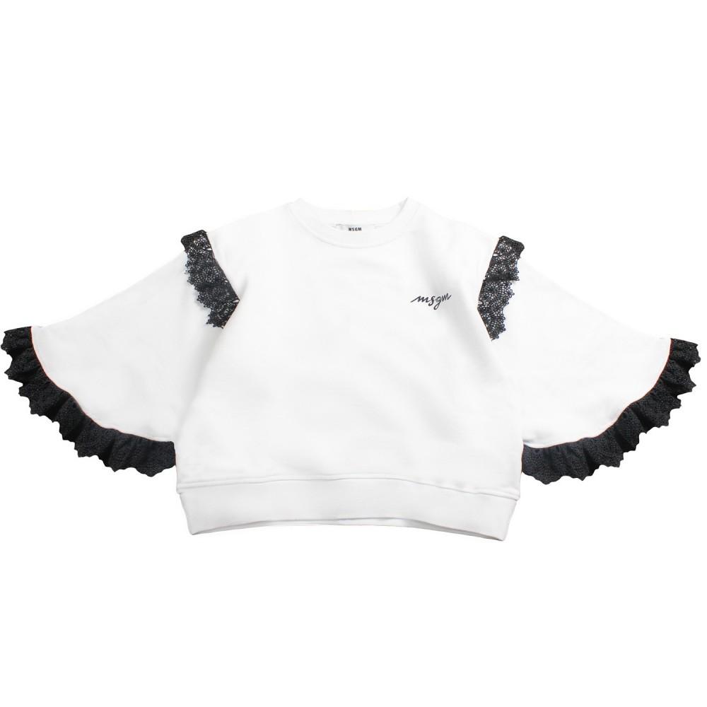 7b3b62249ca8 Girl white kimono sweatshirt by MSGM Kids - Ivana Vesprini