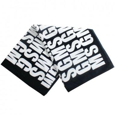 MSGM Black terry beach towel by MSGM Kids 01830919msgm19
