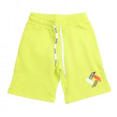 MSGM Boys yellow cotton bermuda shorts by MSGM Kids 01854519msgm19