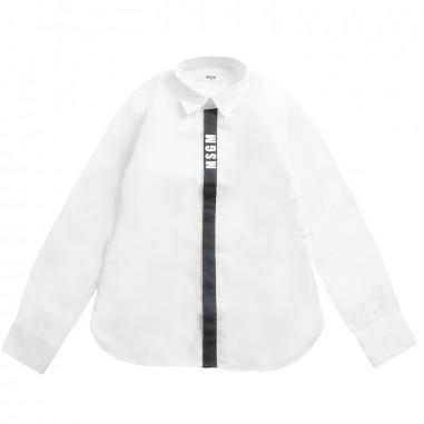 MSGM Boys popeline white shirt by MSGM Kids 01856919msgm19